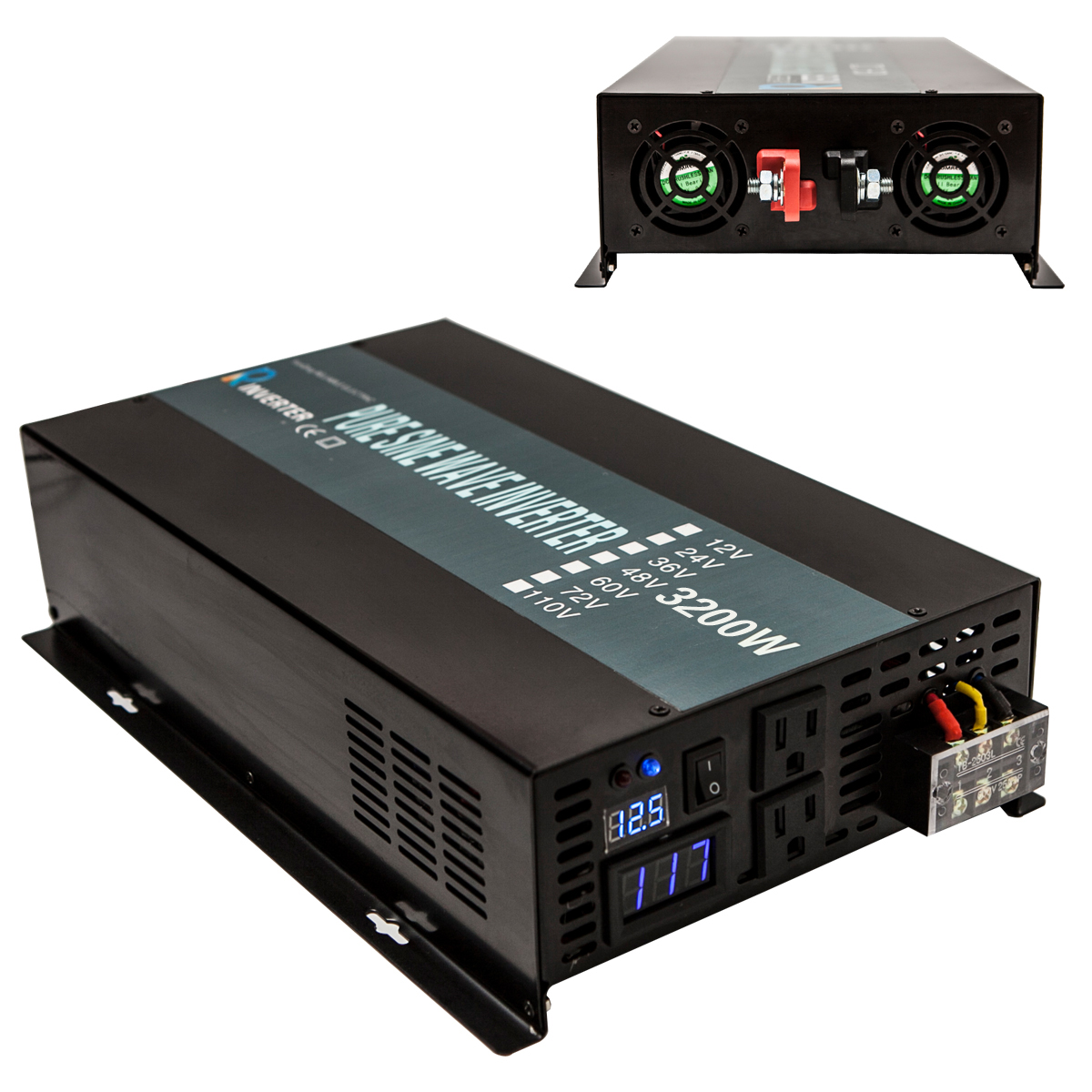 3200W Off Grid DC to AC Pure Sine Wave Solar Power Inverter